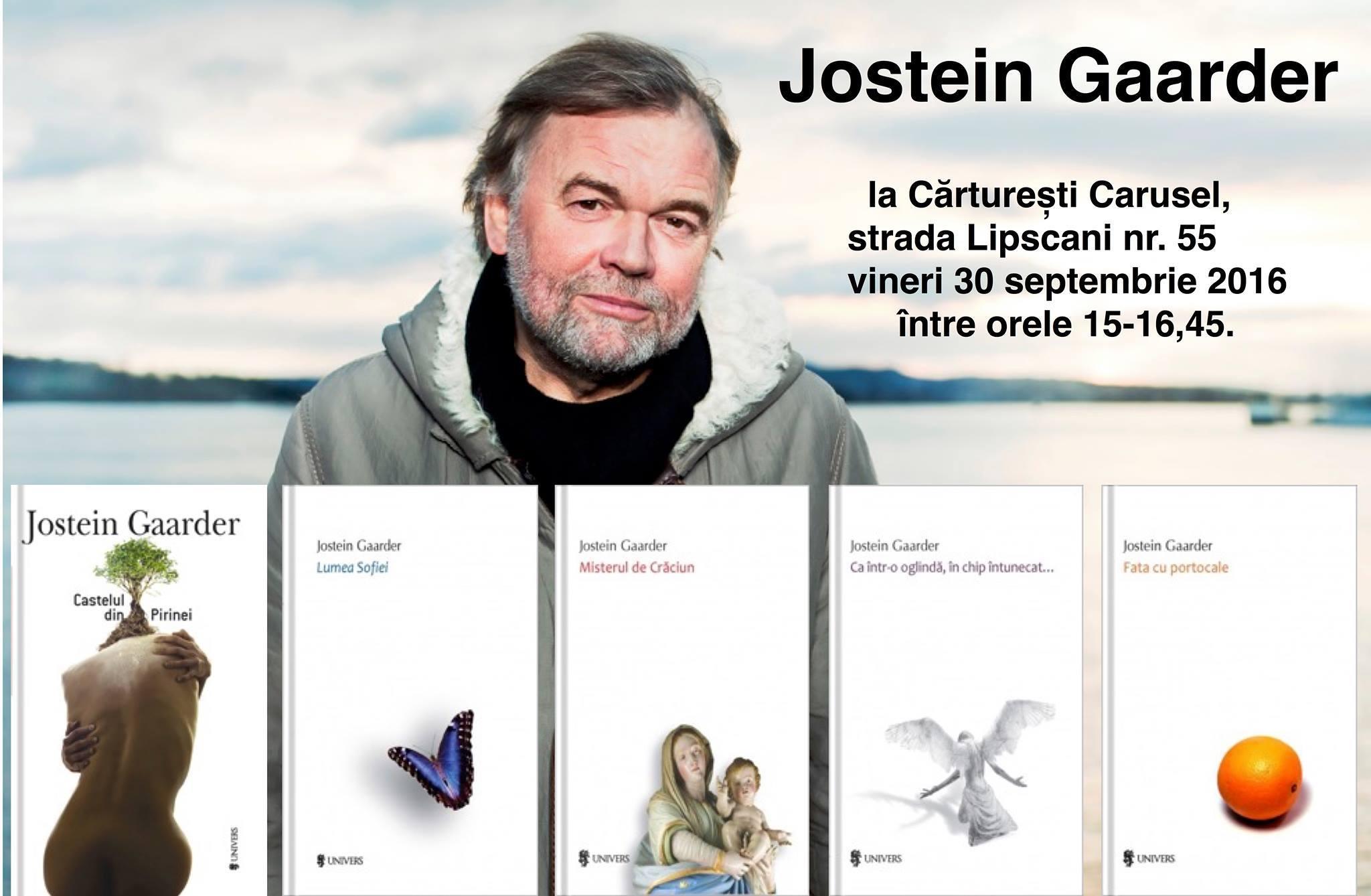 Jostein Gaarder, întâlnire cu publicul din România