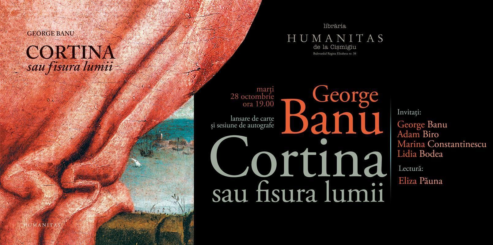 Eveniment George Banu la Librăria Humanitas de la Cişmigiu