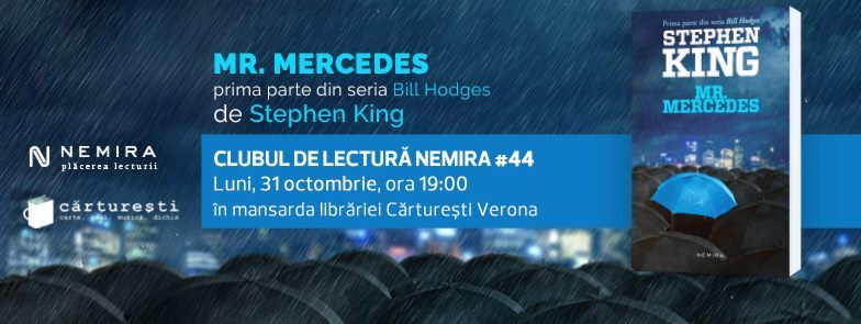 "Clubul de lectură Nemira #44, ""Mr. Mercedes"", de Stephen King"