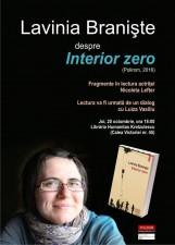 """""""Interior zero"""", de Lavinia Braniste, in lectura Nicoletei Lefter"""