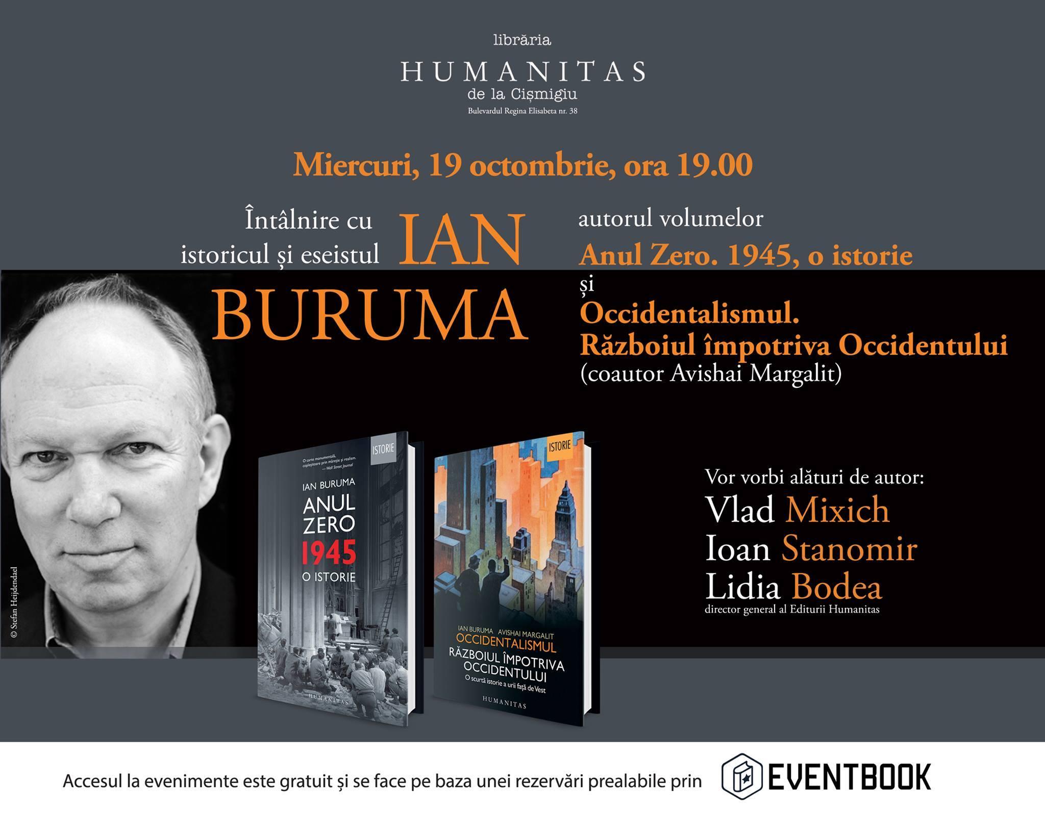 Ian Buruma la Librăria Humanitas de la Cișmigiu