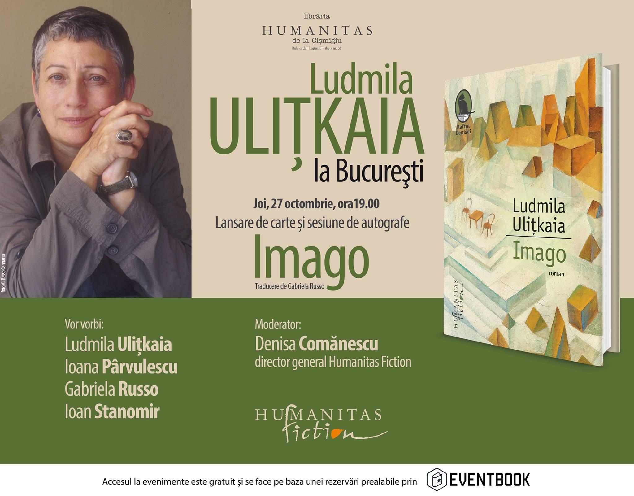 Ludmila Uliţkaia la Bucureşti