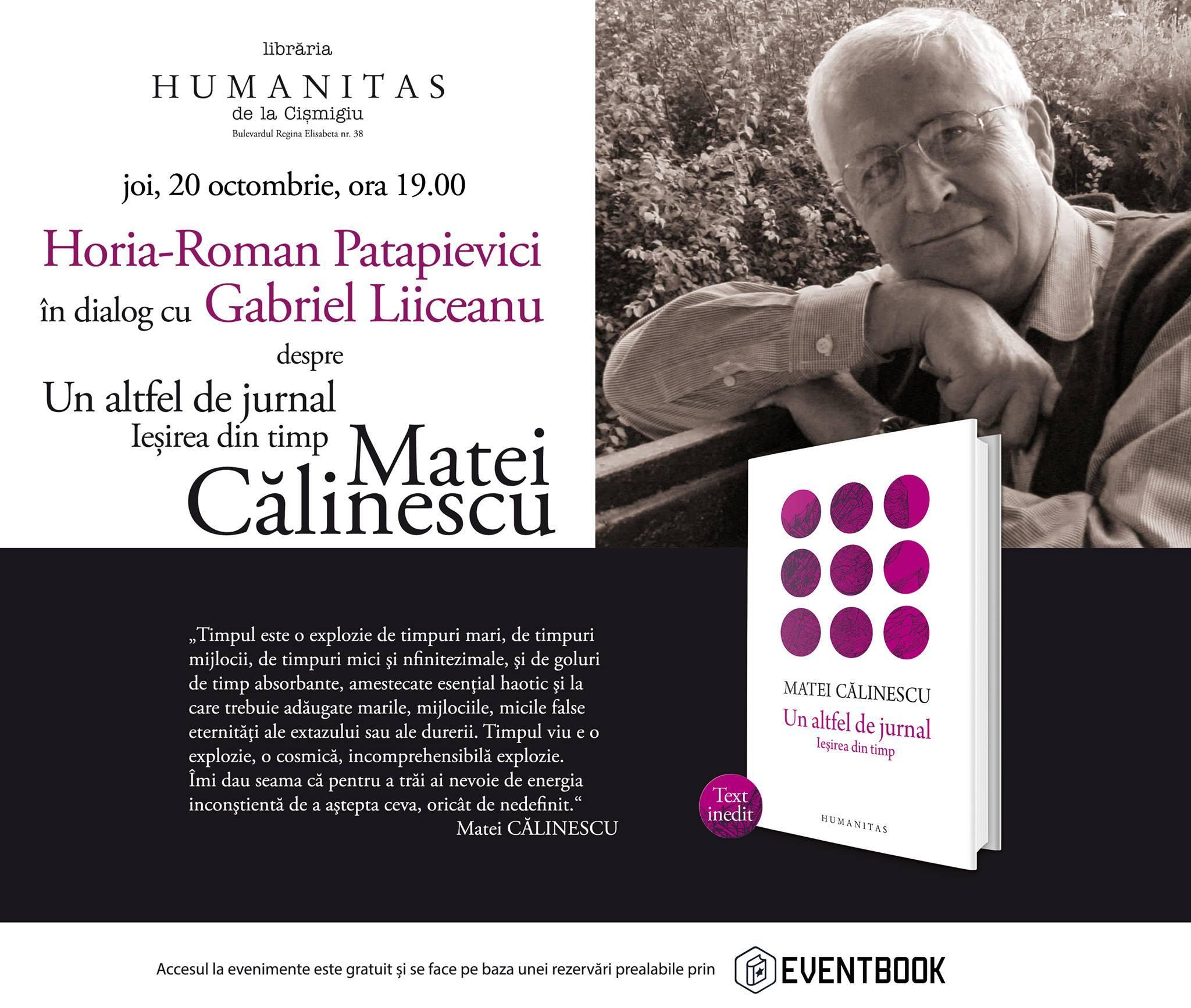 Horia-Roman Patapievici în dialog Gabriel Liiceanu