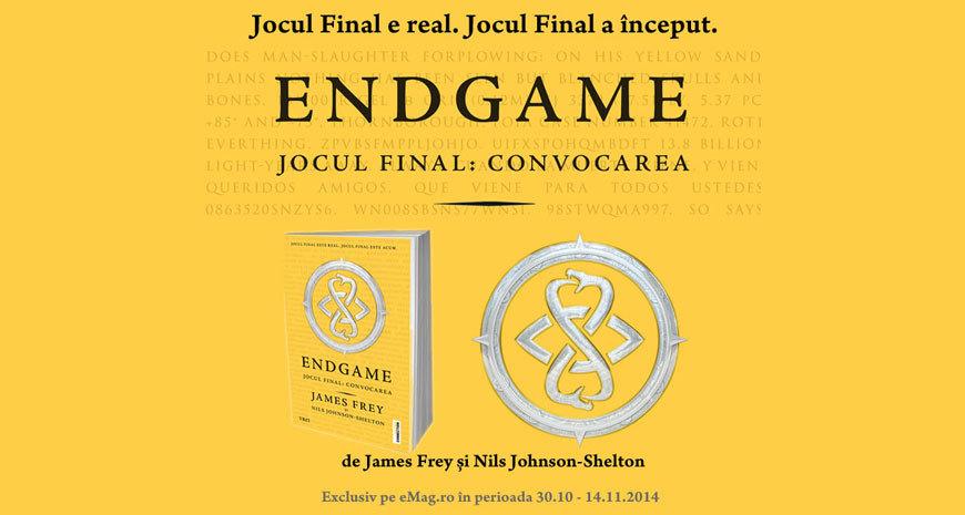 Prima experienţă multimedia integrată carte-joc: Endgame (Comunicat de presă)