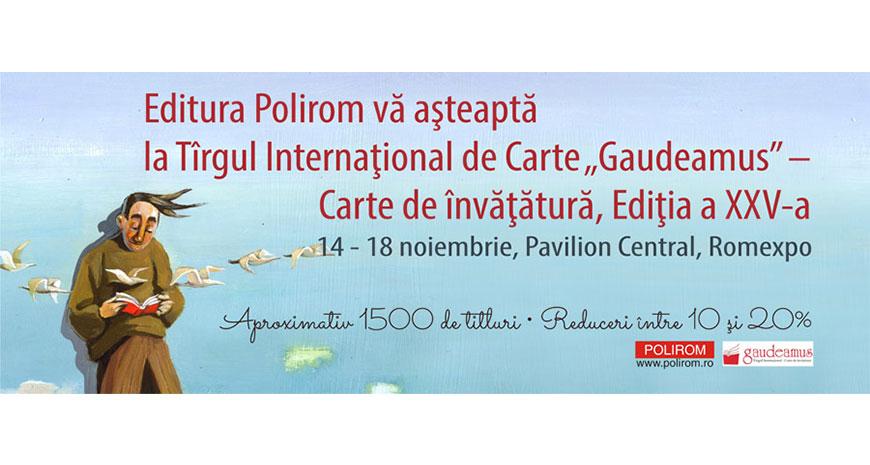 Editura Polirom la Gaudeamus 2018