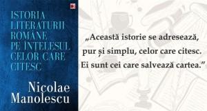 O nouă istorie a literaturii române lansată de Nicolae Manolescu la Gaudeamus