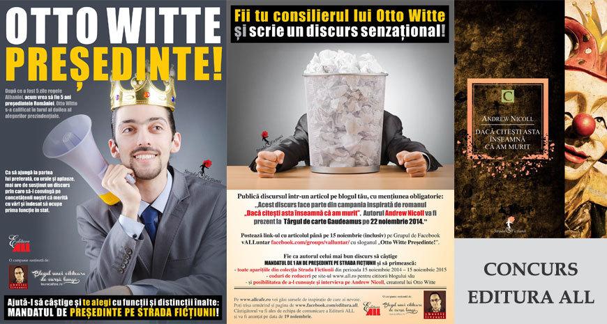 Concurs Editura All: Otto Witte președinte (Comunicat de presă)