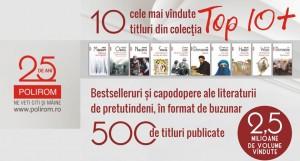 """Concurs Editura Polirom: aniversare 500 de titluri apărute în colecția """"Top 10+"""" [încheiat]"""