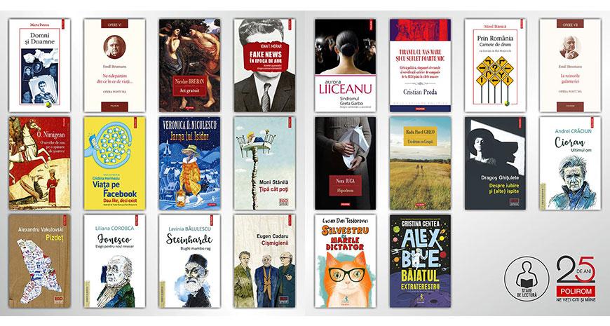 Starea de lectură continuă. Autori români cu cărți noi la Polirom