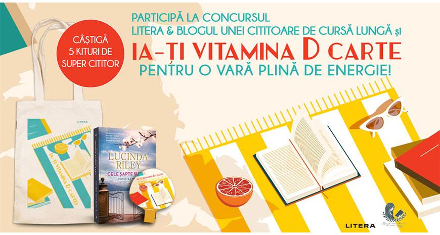 Concurs: Ia-ți vitamina D carte și câștigă 5 kituri de super cititor de la Editura Litera [încheiat]