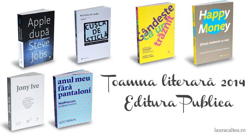 Toamna literară 2014 – Noutăți la Editura Publica