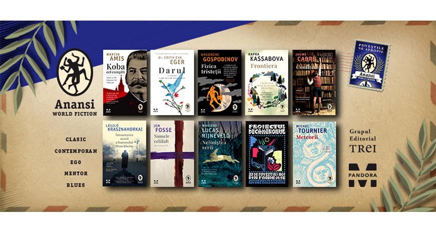 10 noi titluri îmbogățesc, din toamna aceasta, portofoliul colecției Anansi. World Fiction