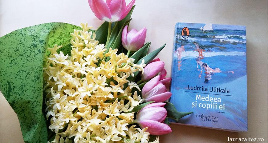 """O țesătură cu un desen extraordinar, despre """"Medeea și copiii ei"""", de Ludmila Ulițkaia"""