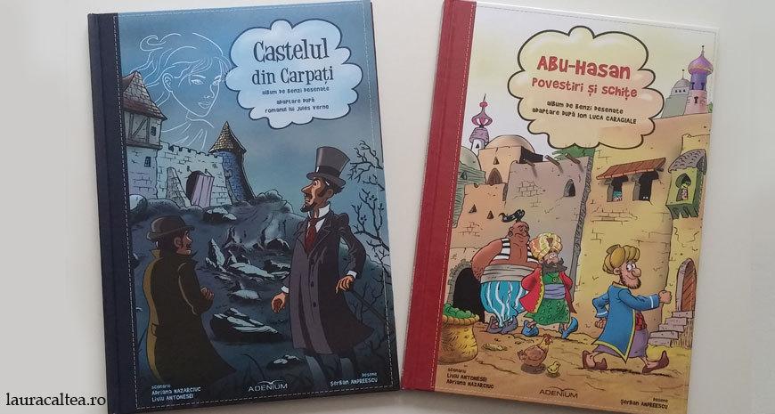 """Benzi desenate: """"Castelul din Carpați"""" și """"Abu-Hasan"""""""