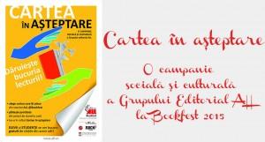 Cartea în așteptare, o campanie socială și culturală a  Grupului editorial ALL la Bookfest 2015