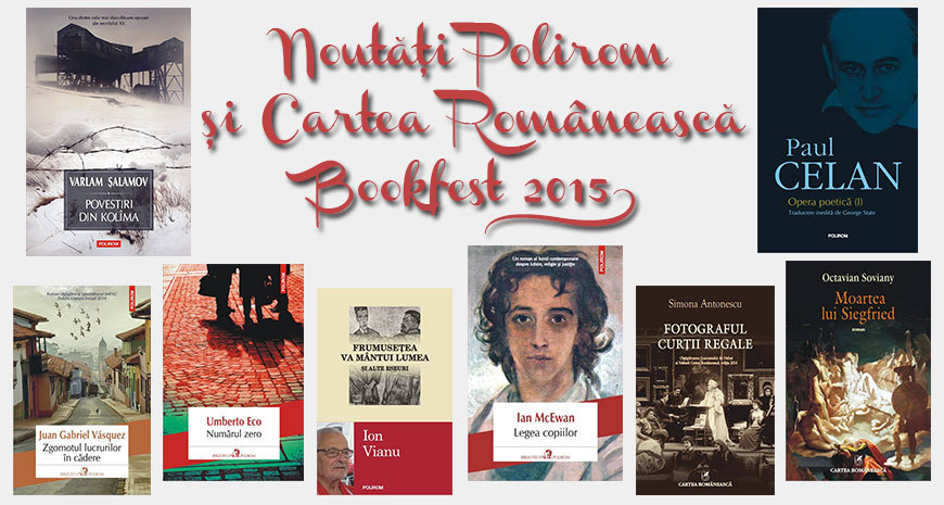Polirom și Cartea Românească la Bookfest 2015