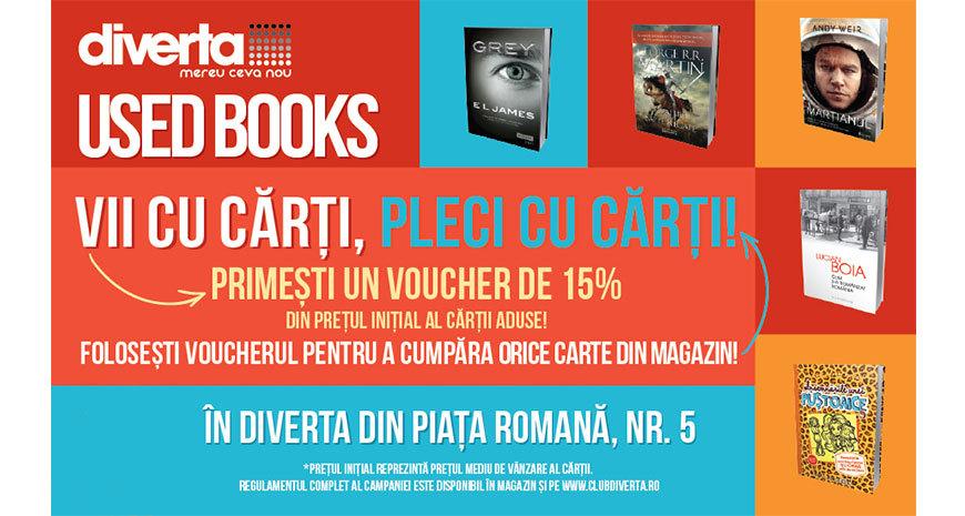 Diverta lansează noul program Used Books în librăria din Piața Romană