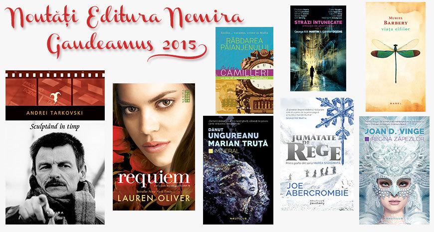 Noutățile Editurii Nemira la Gaudeamus 2015