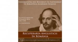 """Universitatea din București organizează conferința """"R.A.R.- Recuperarea Anglisticii în România"""""""