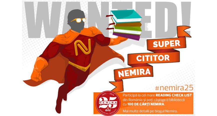 Editura Nemira sărbătorește 25 de ani de plăcerea lecturii