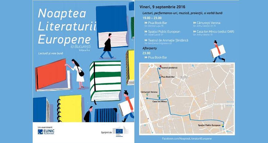 Program Noaptea Literaturii Europene la București, ediția a V-a
