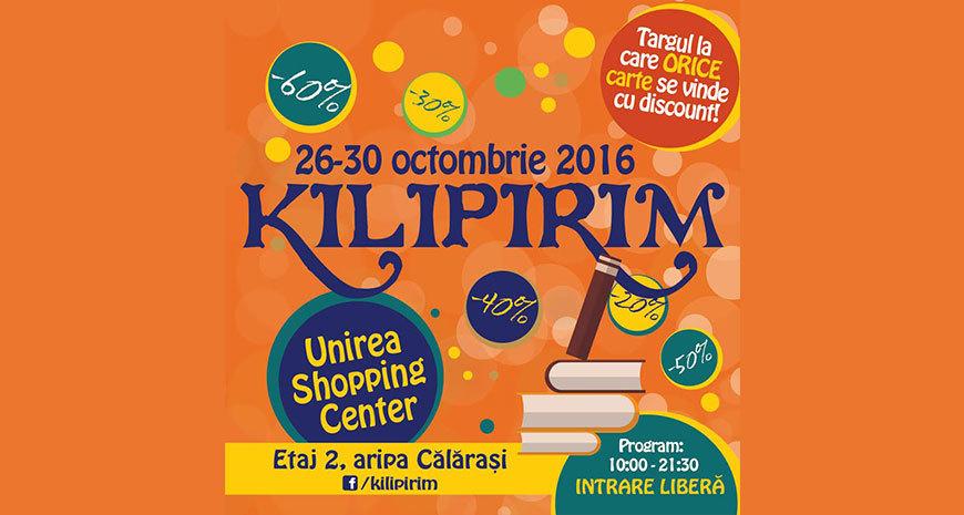 Reduceri la cărți de până la 90% la KILIPIRIM, ediția de toamnă 2016
