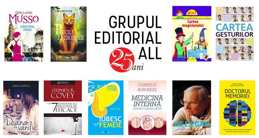 Top 10 vânzări Editura All în 2016