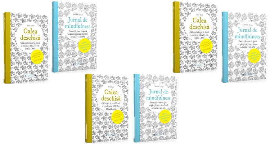 """Concurs: """"Jurnal de mindfulness"""" și """"Calea deschisă. Călătoria în jurul lumii a celui de-al XIV-lea Dalai Lama"""" [încheiat]"""
