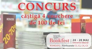 Concurs: Câștigă 4 vouchere de 100 de lei la Bookfest 2017 [încheiat]