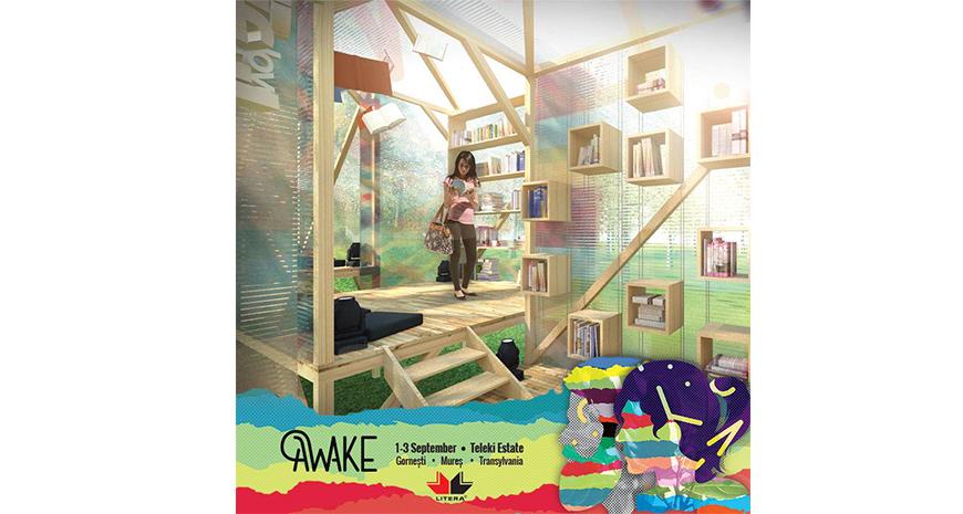 Forest Library la AWAKE Festival - simbol al primei biblioteci publice din Transilvania