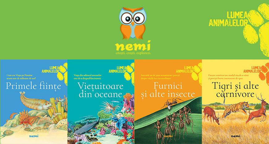 """Editura Nemi lansează seria """"Lumea animalelor"""", pentru micii exploratori"""