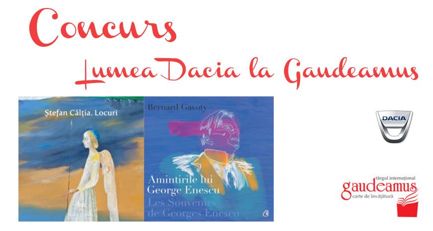Concurs: Dacia la Gaudeamus, mașina cititorilor de cursă lungă [încheiat]