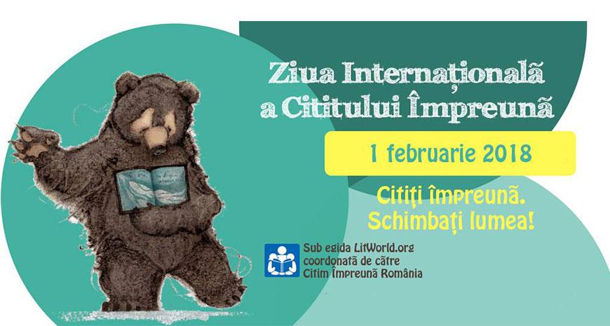Sute de evenimente de marcare a Zilei Internaționale a Cititului Împreună de 1 februarie 2018