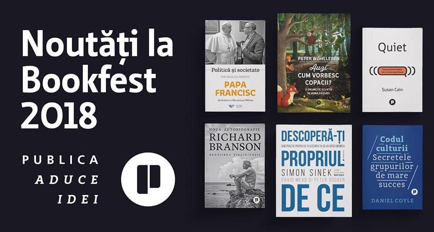 Noutățile Publica la Bookfest 2018