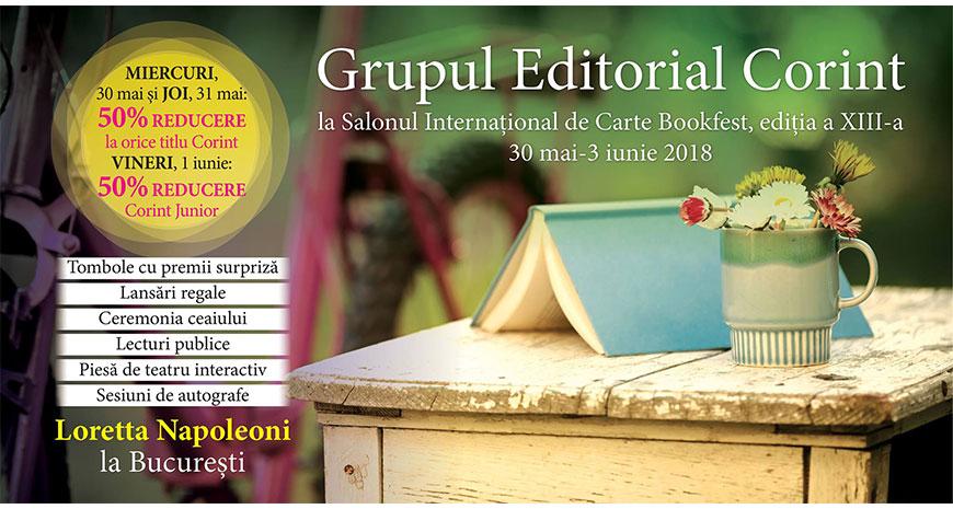 Grupul Editorial Corint la Bookfest, ediția a XIII-a